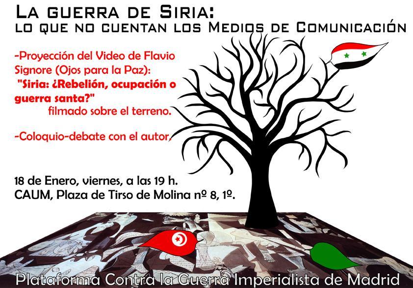 Presentación Del Documental Siria Rebelión Ocupación O