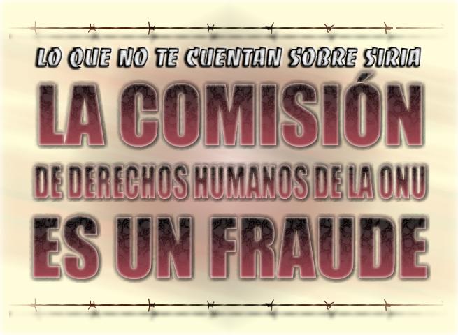 La comisión de derechos humanos de la ONU es un fraude