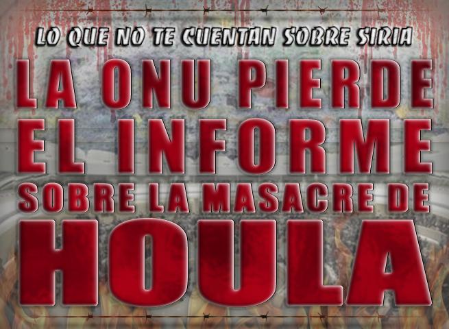La ONU pierde el informe sobre la masacre de Houla